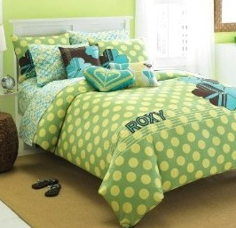 lime green bedding set