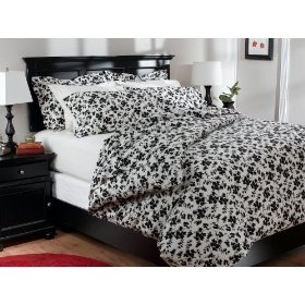 Pinzon 160 gram black and white printed flannel sheet set twin mightylinksfo