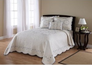 Pike St Embroidered Bedspread