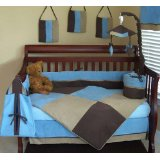 Nursery to go baby boy blue crib set