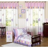 Pink and Purple Butterfly Collection Toddler Bedding Set